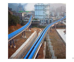 Long Distance Curved Belt Conveyor System For Coal Mining