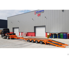 Extendable 4 Axles Lowbed