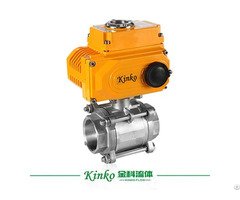 3pc Stainless Steel Automatic Thread Ball Valve With Electric Actuator