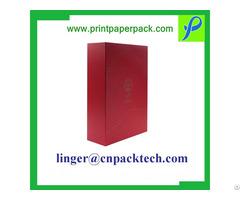 Custom Rigid Uv Gold Stamping Logo Embossed Debossed Gift Wine Paper Box