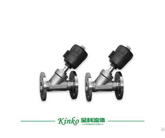 Pneumatic Flange Angle Seat Valve For Water Treatment Equipment