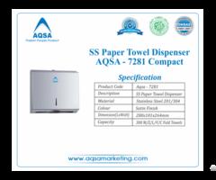 Ss Paper Towel Dispensers Aqsa 7281 Compact