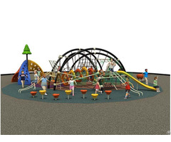 Kids Outdoor Play Zone Commercial Grade Playground Equipment