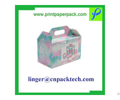 Custom Printed With Flocked Foam Insert Electronics Packing Box