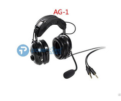 Noise Cancelling Aviation Headset For Pilot