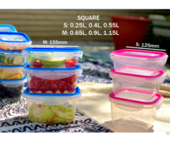 Food Container With Fixed Sealing Strip