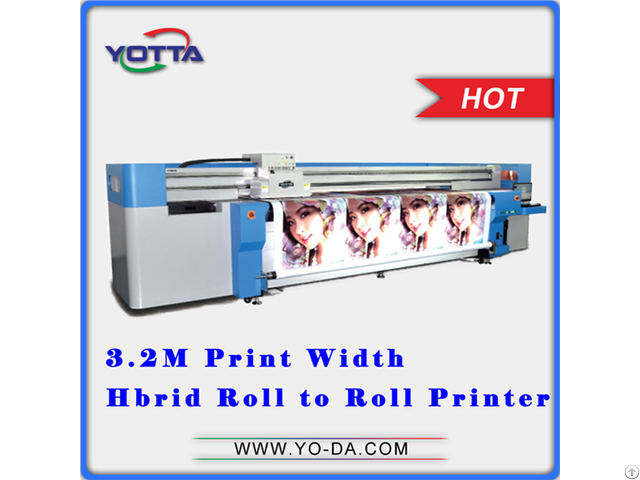 Pvc Film Roll Printing Machine Uv Hybrid Printer Yd3200 Rc