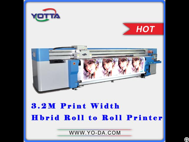 Pvc Film Roll Printing Machine Uv Hybrid Printer Yd3200 Rc