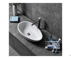 Solid Surface Bathroom Wash Sink Artificial Stone High End Basins Manufacturer And Supplier In China