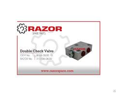 Double Check Valve 9106 0630 10 Razor Spare Parts