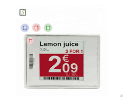 Supermarket Esl Digital E Ink Display Electronic Shelf Label