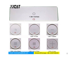 C1 C7 Optical Glass Microscope Measurement Calibration Slides Eyepiece Reticle