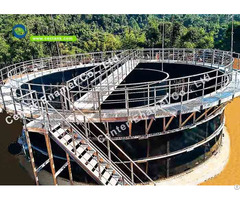 Bolted Steel Aerobic Digestion Tanks With Aluminum Alloy Trough Deck Roofs