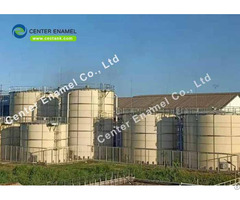 Glass Lined Steel Anaerobic Digester Tank For Large Biogas Plant
