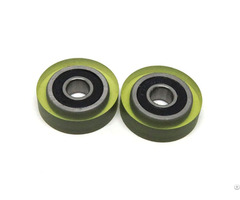 5x18x5mm Pu Coated Wheel 605 2rs Rubber Currency Counter Wheels Pu60518 5
