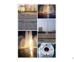 Colored Music Water Fountain With Laser Show