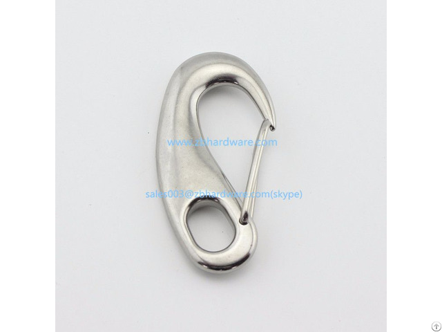 Stainless Steel Small Egg Shape Snap Hook
