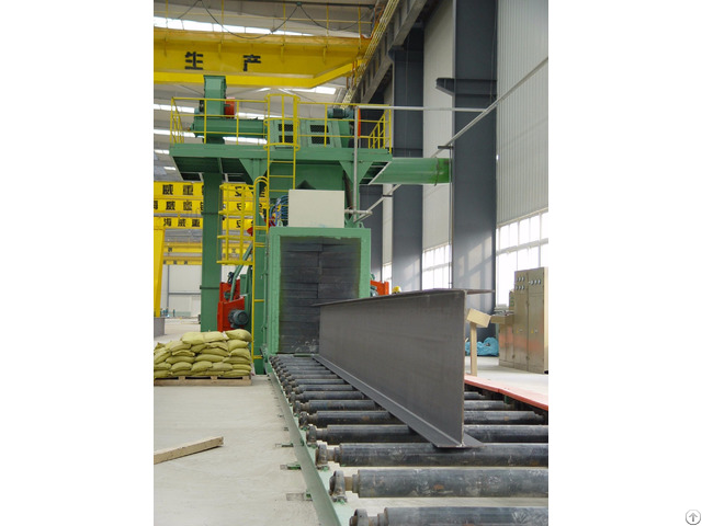 Structural Steel Through Type Shot Cleaning Machine