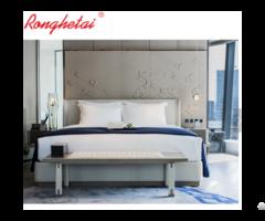 Ronghetai 5 Star Luxury Moderno Hotel Furniture Suite Custom Made Metal Fabric Set
