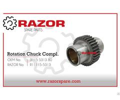 Rotation Chuck Complete 3115 5313 80 Razor Spare Parts