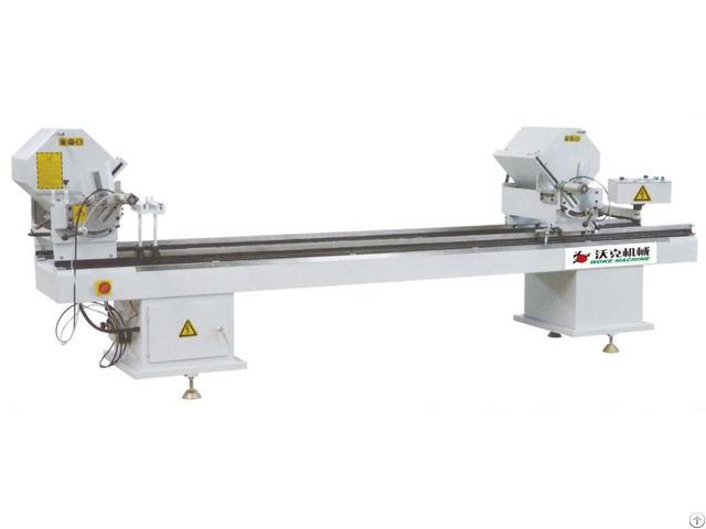 Aluminum Pvc Profile Double Head Cutting Saw Machine