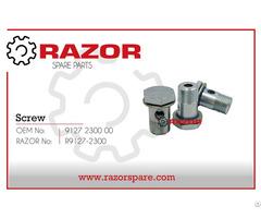Screw 9127 2300 00 Razor Spare Parts