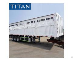 Cargo Transport Fence Semi Trailer For Sale In Tanzania
