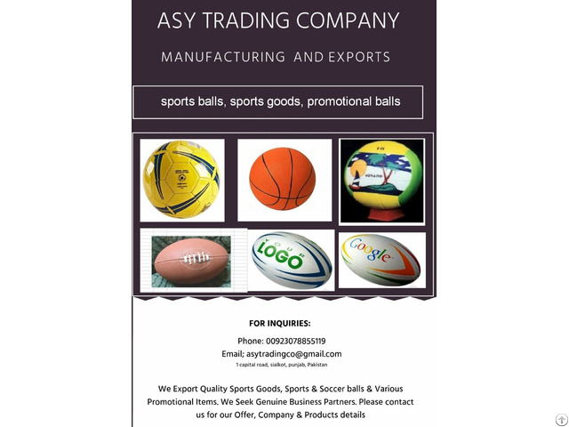 We Export Sports Goods Soccer Balls Promotional Items