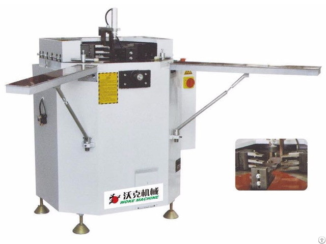 Aluminum Window Door Single Corner Combining And Crimping Machine