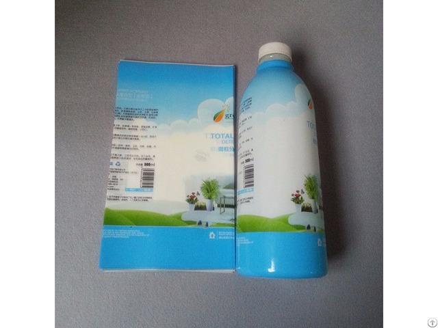 Printed Pet Shrink Film For Milk Bottle Packaging