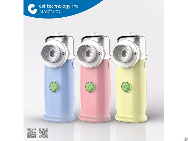Fda Ce Iso Approved Ultrasonic Portable Nebulizer With Mask