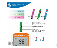 Diabetes Blood Test Sensor Glucose Cholesterol Hemoglobin Meter