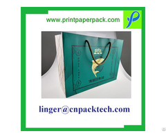 Four Color Printing Gloss Lamination Rope Handle Paper Bag
