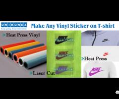 Make Any Vinyl Sticker By Laser On Shirt
