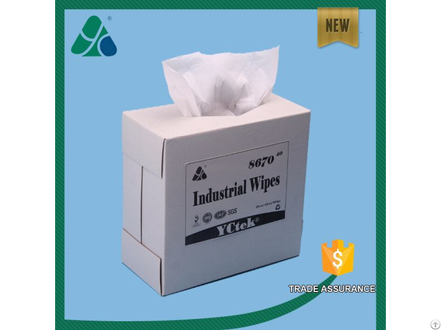 Wood Pulp Polypropylene Industrial Wipes