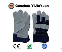 Cow Split Leather Working Hand Gloves With Ce