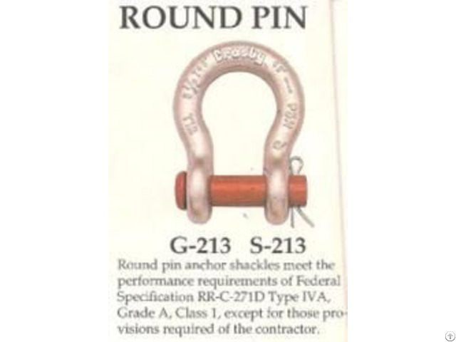 Crosby 213 Round Pin Carbon Anchor Shackles