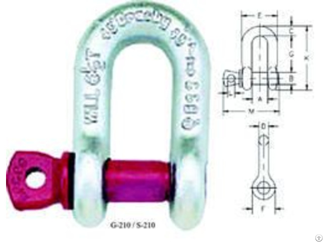 Crosby G 210 D Shackle Screw Pin Type