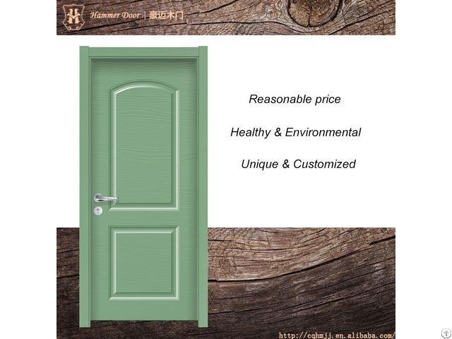 Green Composite Drawing Room Door With Pine Paint