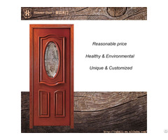 Single Door Design And Insert Glass For Teak Wood Doors