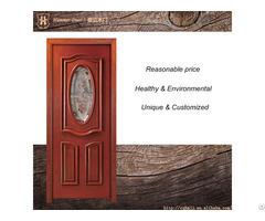 Single Door Design And Insert Glass For Teak Wood Doors