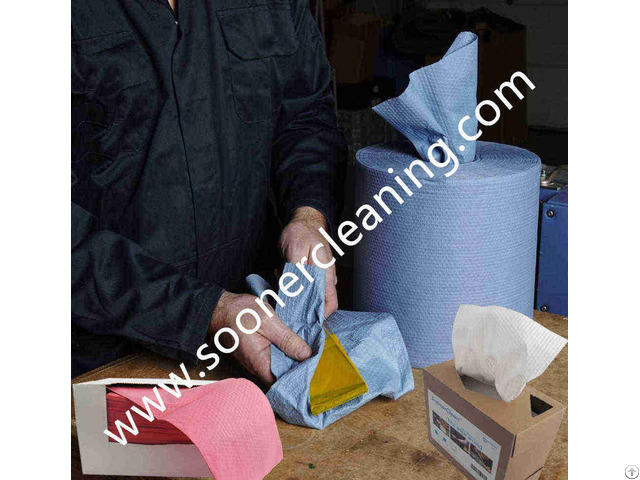 Woodpulp Polypropylene Spunlace Nonwoven Embossed X80 Wipes