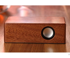 Eco Wood Bamboo Magic Induction Mini Speaker For Smart Phone