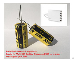 Radial Lead Aluminum Capacitors For Rechargeable Usb Power Bank External Battery Charger