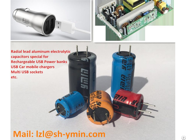 Ymin Best Selling Gp Radial Lead Aluminum Electrolytic Capacitors Special For Car Mobile Usb Charger