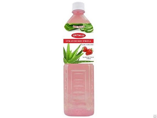 Okyalo: Strawberry Aloe Vera Drink In 1.5l, Okeyfood