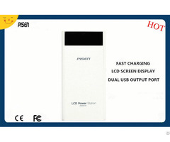 Smart Mobile Pisen Power Bank 20000mah Lcd Screen Display Dual Usb Output Ce Fcc Certificate