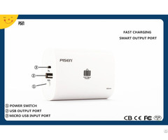 Pisen Portable Power Bank 6600mah External Battery Charger Cb Ce Fcc Pse Certificate