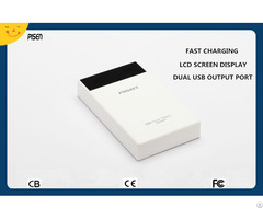 Cb Ce Fcc Certificate Dual Usb Pisen Power Bank 10000mah Lcd Screen Display For Mobile Phone