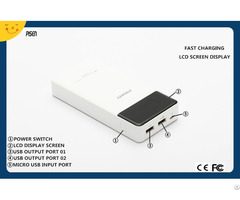 Dual Usb Pisen Power Bank 15000mah Lcd Screen Display External Battery Charger Ce Fcc Certificate